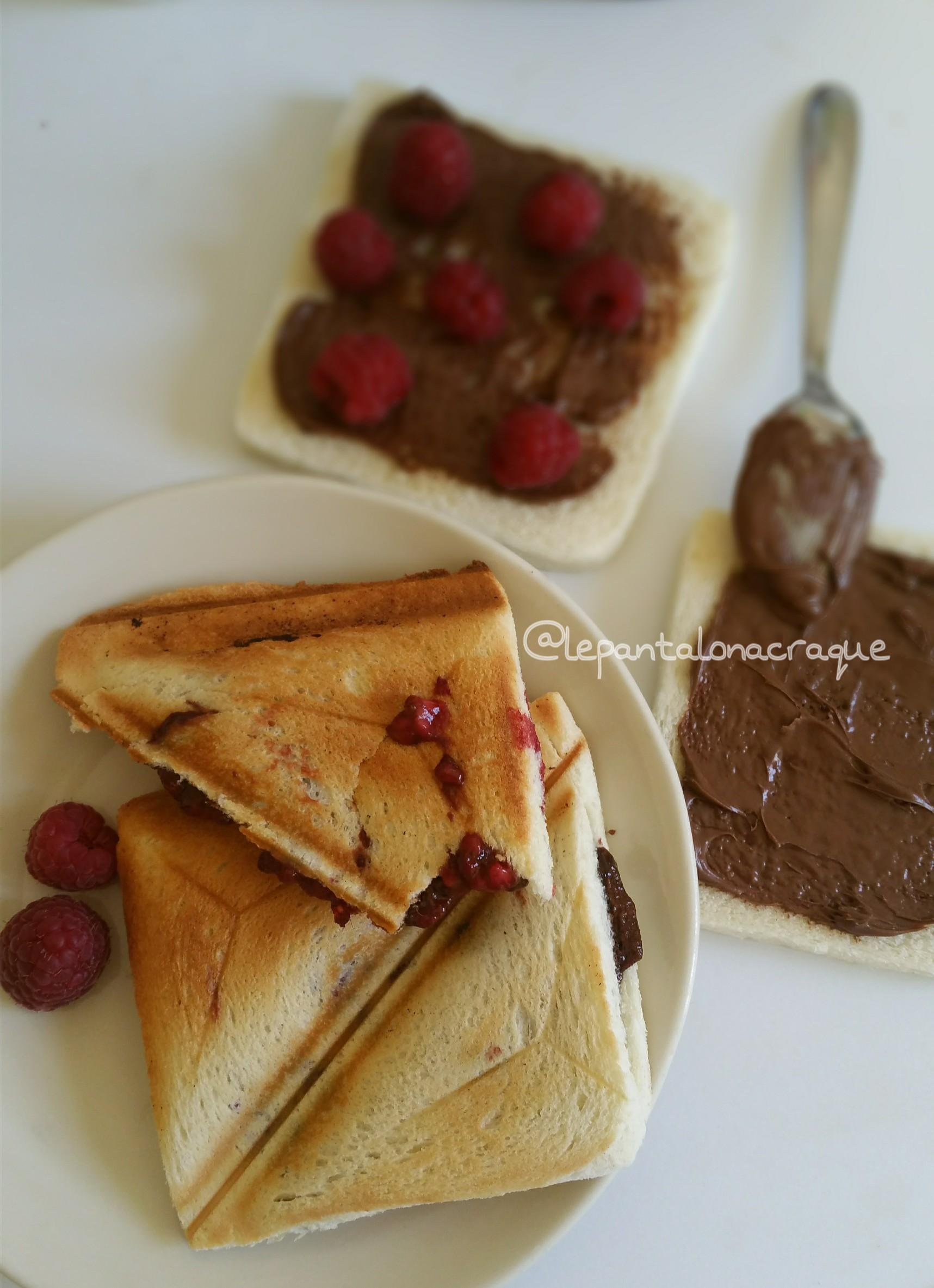 croque nutella framboises