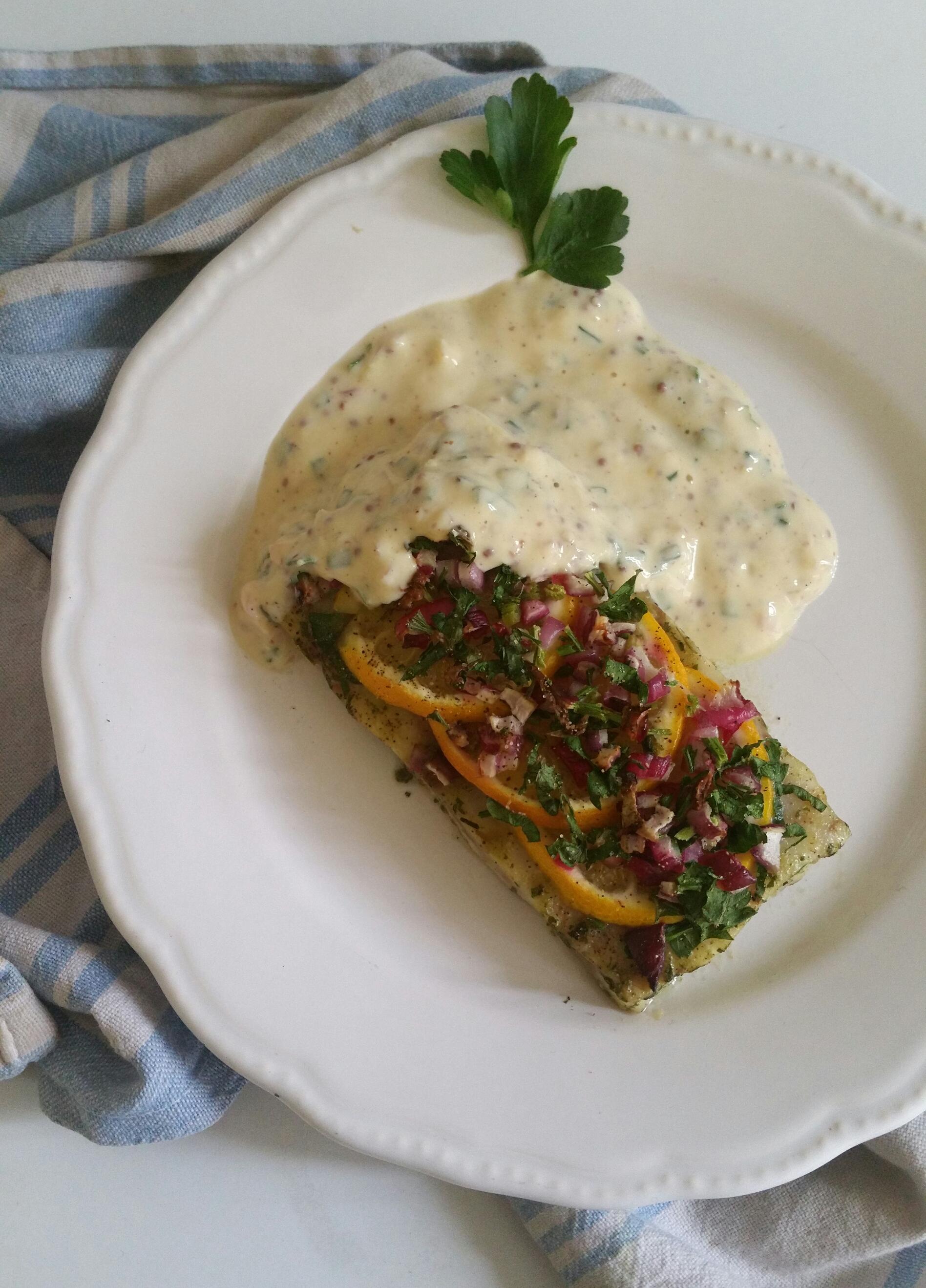colin et sauce béarnaise allégée