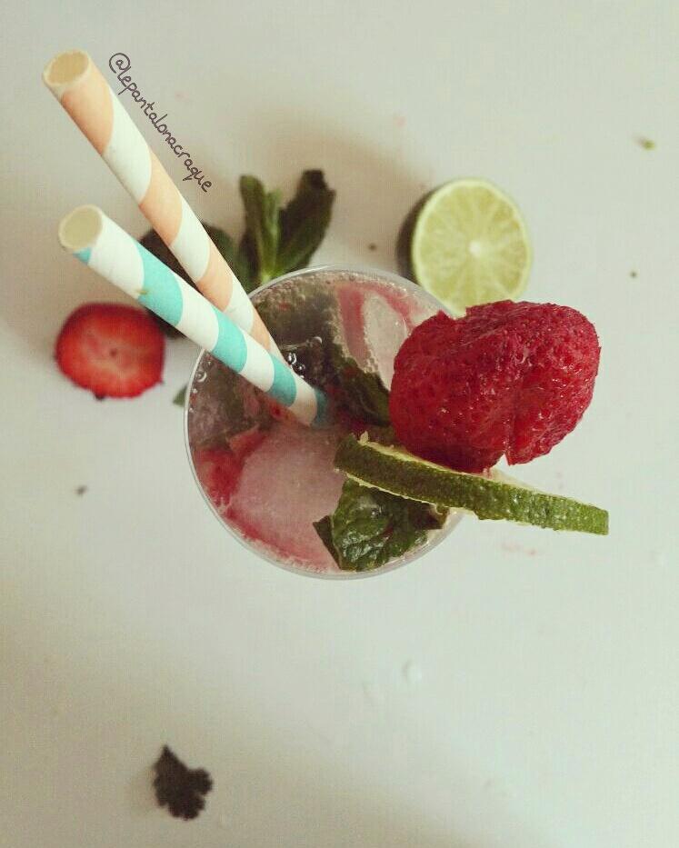 virgin mojito a la fraise